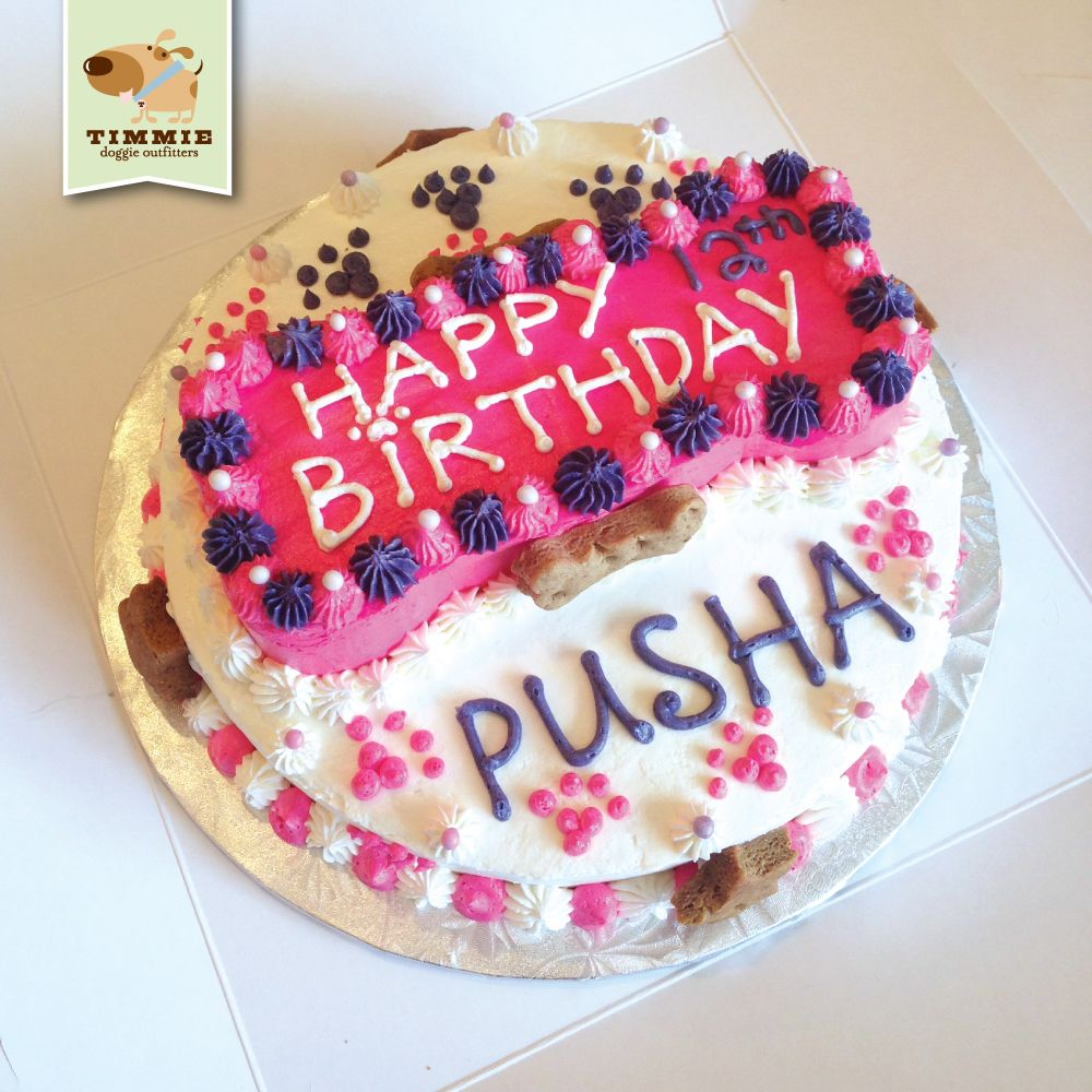 Happy 12th Birthday Pusha Special Delivery Cake From Trixies Kitchen TimmieDoggieOutfitters TimmieWholesomeFood
