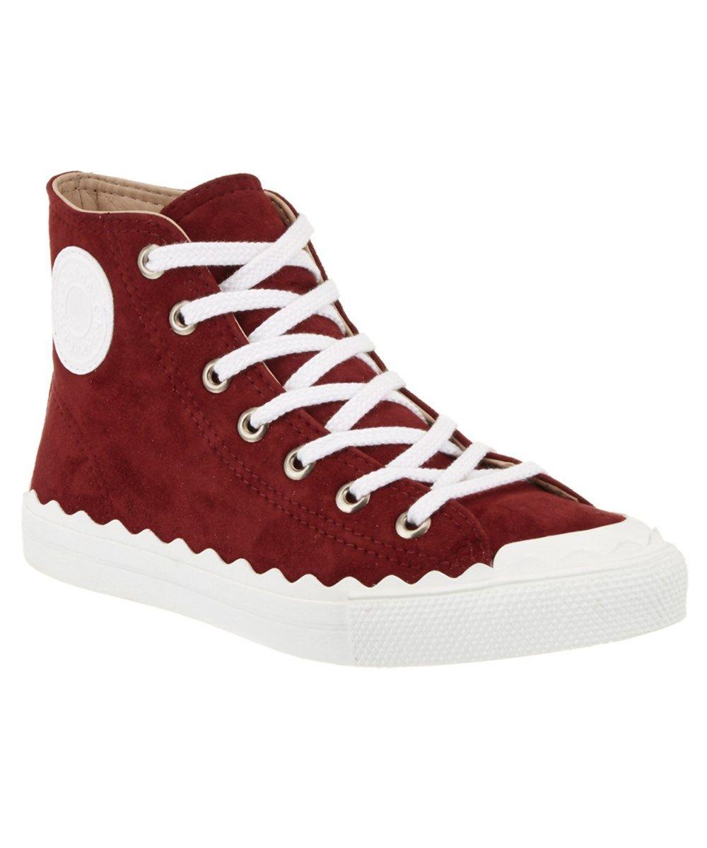 69173c83d79c9 CHLOÉ Chloe Kyle Suede High-Top Sneaker .  chloé  shoes  oxford