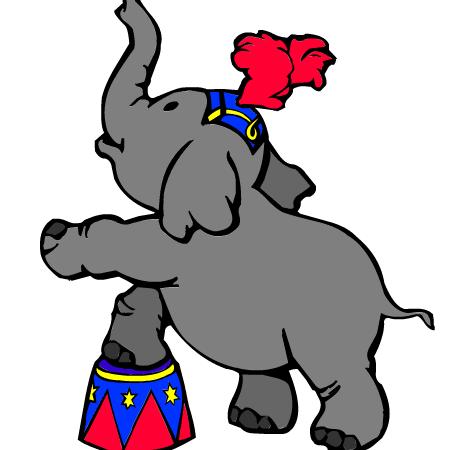 Coloriage cirque a imprimer dessin colorier et dessin non colorier elephant french teacher - Animaux a imprimer en couleur ...