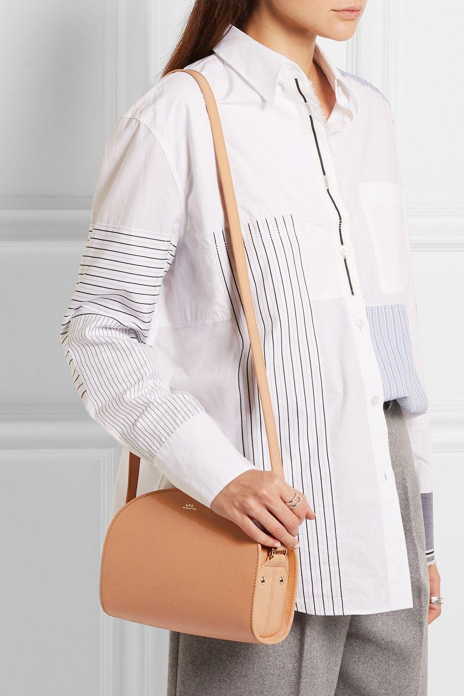 A.P.C. Atelier de Production et de Création | Demi-Lune leather shoulder bag | NET-A-PORTER.COM