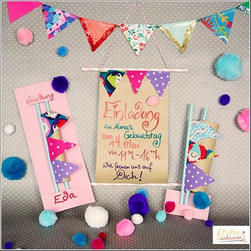 einladungskarten kindergeburtstag mädchen selber machen
