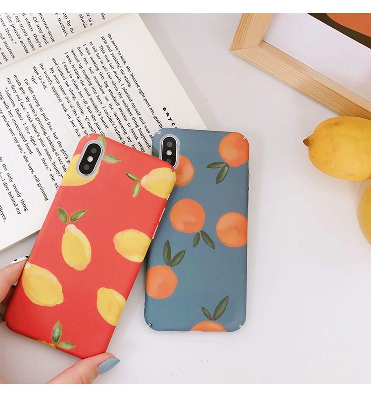 Cartoon Fruits Retro Orange Lemon Painted Cases For Iphone Phone