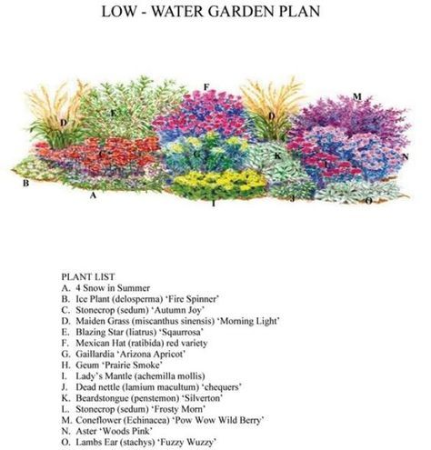 Low Water Use Garden Drought tolerant once established after the – Drought Tolerant Garden Plans