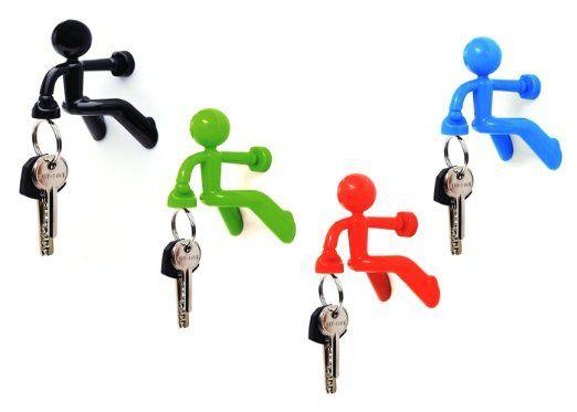 Key Pete Strong Magnetic Key Holder Hook Rack Magnet   Black,Red,Green,