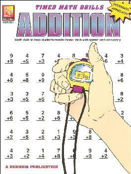 Timed Math Drills Addition