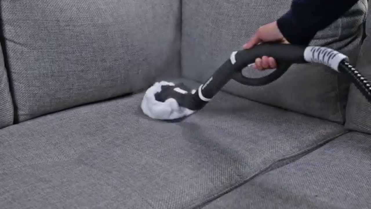 How To Clean A Fabric Sofa With A Steam Cleaner In 2020 Clean Sofa Fabric Cleaning Upholstery Steam Cleaners