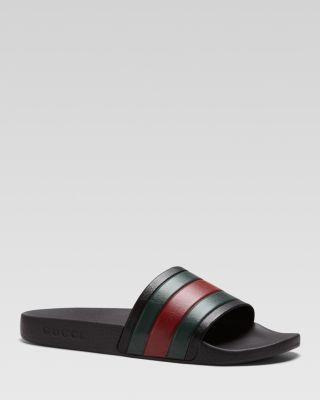 Gucci Rubber Slide Sandals | Bloomingdale's