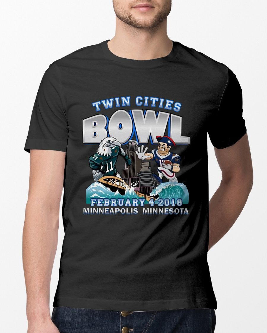 22c98d01 Philadelphia Eagles New England Patriots Twin Cities Super Bowl T Shirt # superbowl #superbowllii #superbowlparty #superbowl2018 #PhiladelphiaEagles  # ...