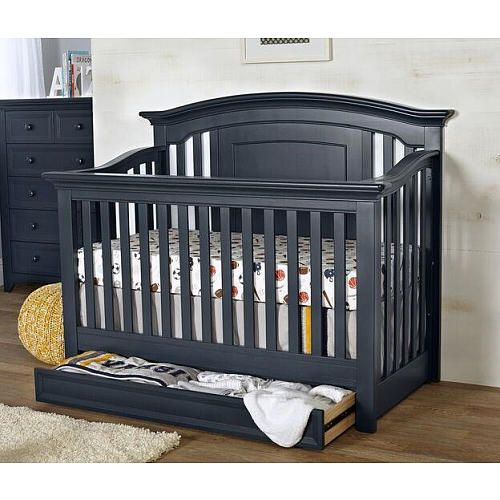 Baby Cache Harbor 4-in-1 Convertible Crib - Navy Mist - Baby Cache ...