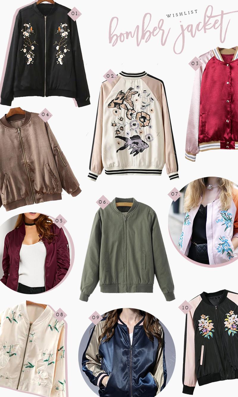 Comprando bomber jackets incríveis - Zaful | Bomber jackets ...