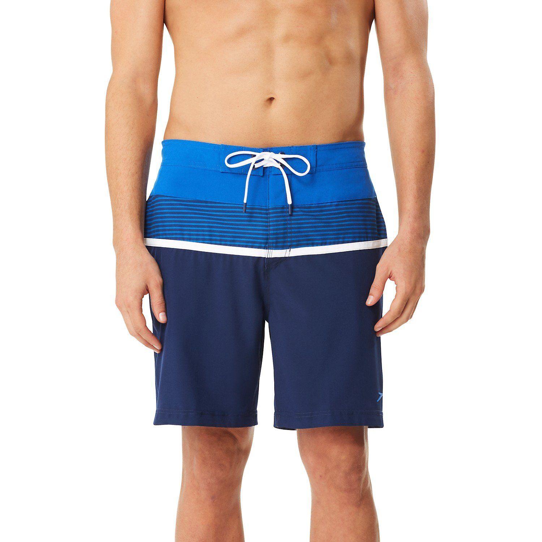 69ea6689e4 Speedo Two Tone Stripe E-Board Swim Shorts-Nautical Navy | Adult ...