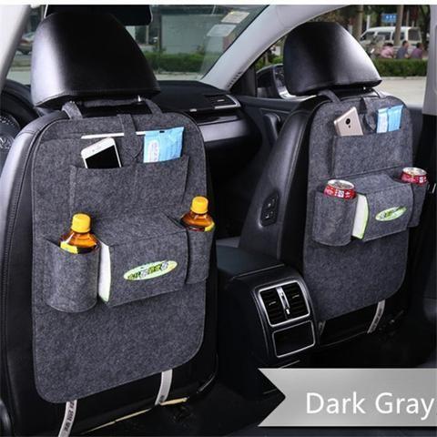 Car Seat Organizer Holder Multi-Pocket Travel Storage Bag Hanger Back Trendy