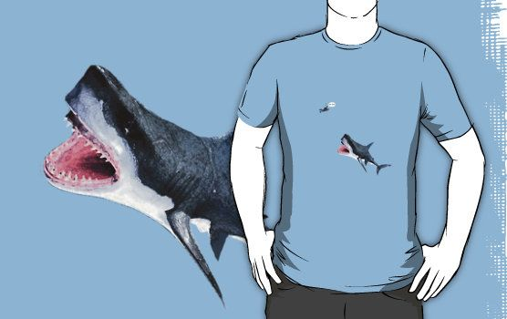 Oh Shit Shark T-Shirt $25 (Available in sizes S-3XL and in 21 different colors!)