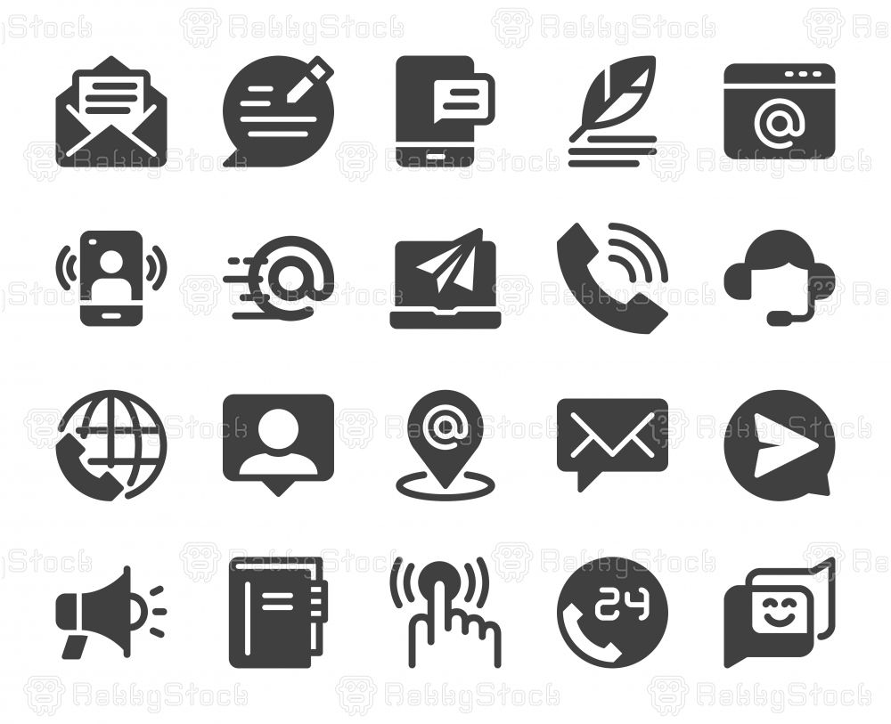 Contact Us Icons Vector Eps File Icon Pictogram Design Vector Icons Symbols