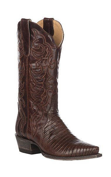 cc6e15431db by Old Gringo Women's Chocolate Lizard Triad Snip Toe Western Boot ...
