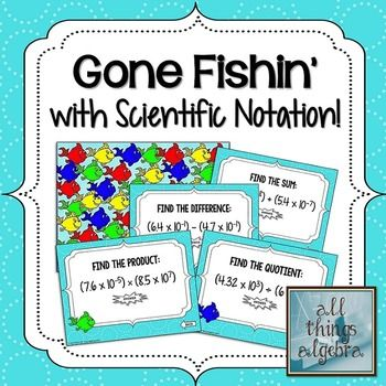 Operations With Scientific Notation Gone Fishin Game  Scientific