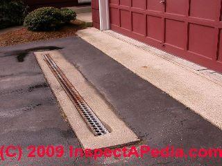 Wet Basement Prevention Cure Driveway Drain Driveway Design Wet Basement