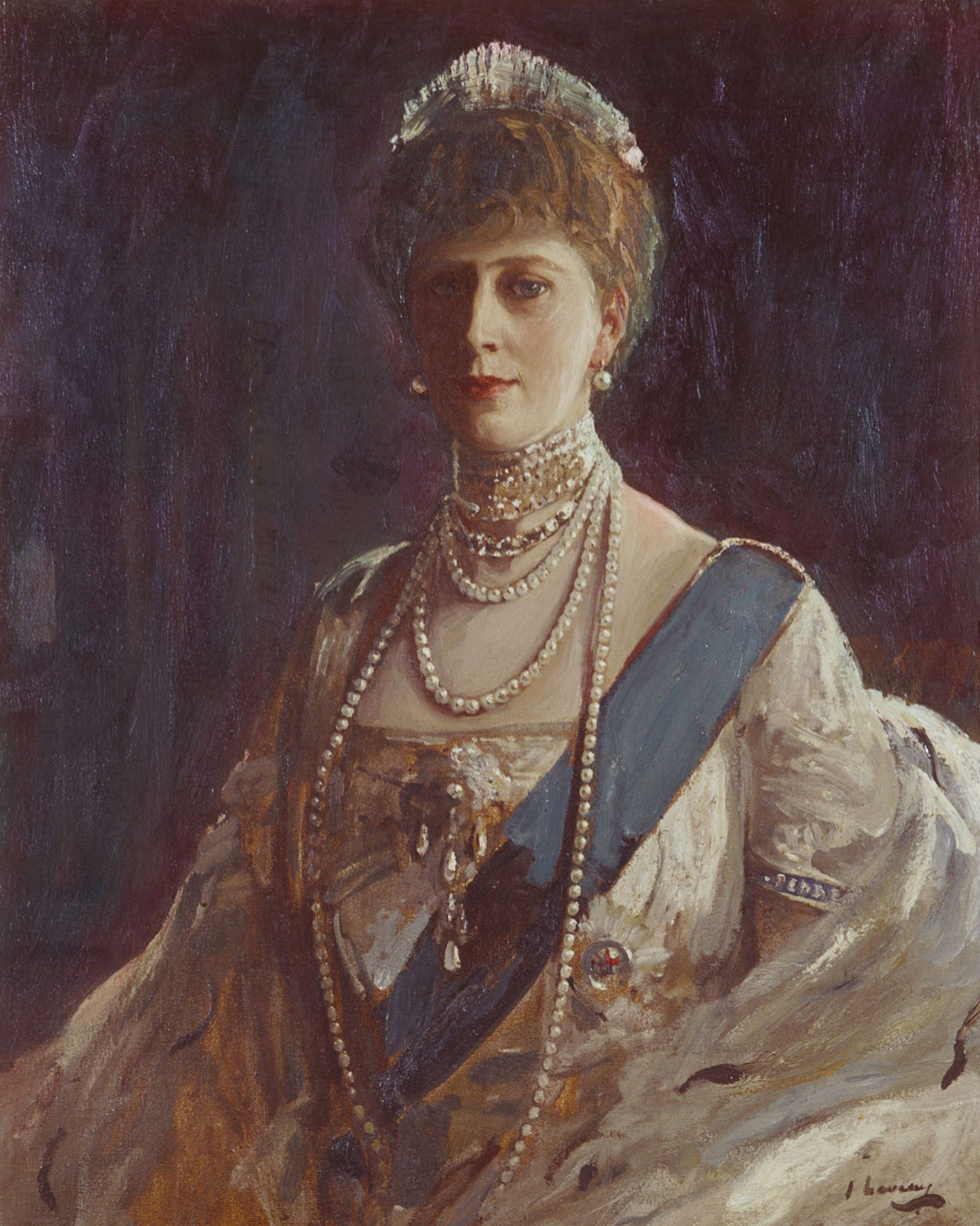 Sir John Lavery (1856-1941) - Queen Mary (1867-1953)