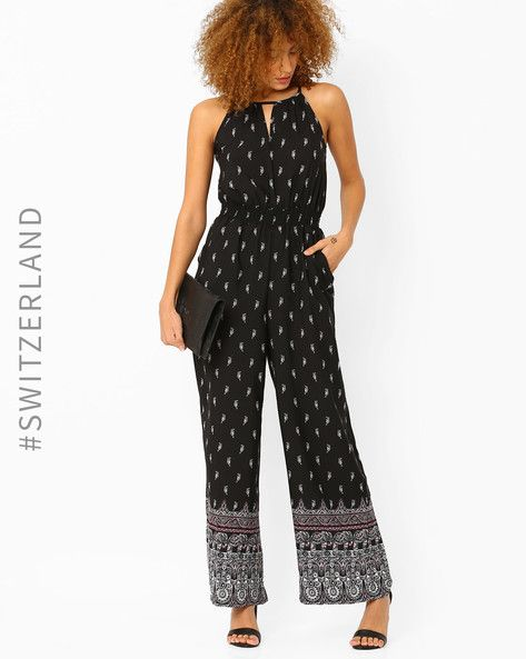 22af518f5050 Buy Black TALLY WEiJL Woven Paisley Jumpsuit