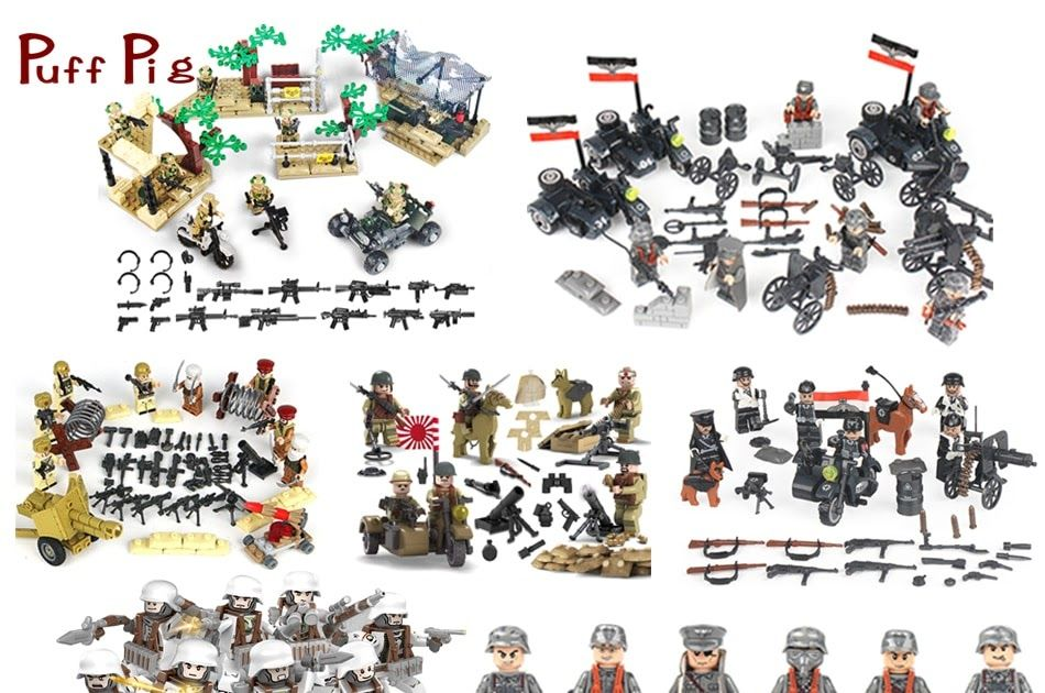 Blocks Smart Military Special Team Forces Soldiers Bricks Figures Guns Weapons Compatible Legoings Armed Swat Building Blocks Ww2 Toys