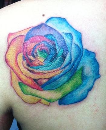 Rainbow Rose Tattoo Rainbow Tattoos Rose Tattoo On Hip Tattoos