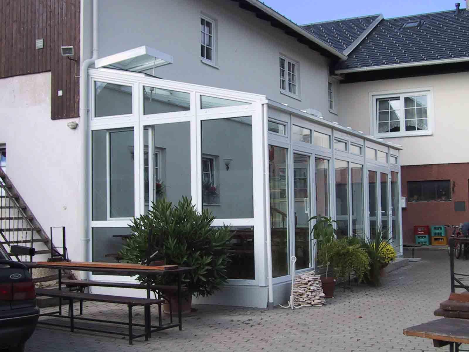 Faltfenster Wintergarten ~ Wintergarten mit faltfenster und milchglas brüstung brüstung