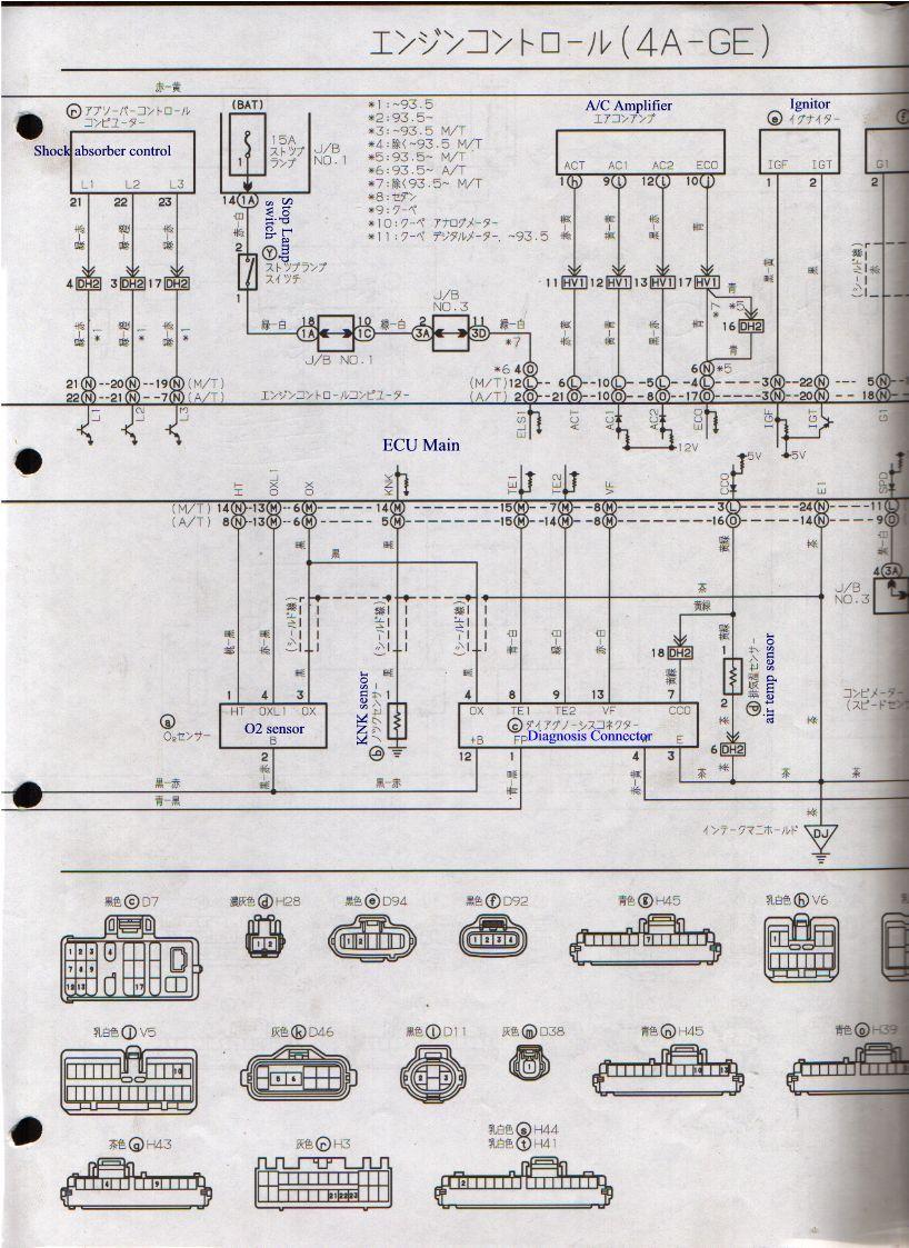 4age Blacktop Wiring Diagram 91 Honda Civic Radio 20v Harness For Ae111 Facybulka Me And