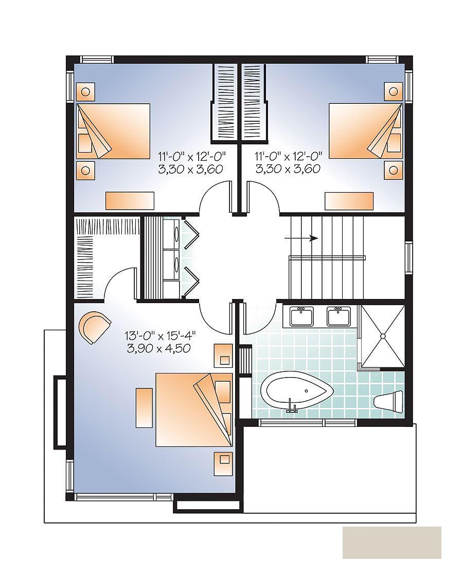 Casa moderna de 2 plantas y 3 dormitorios hermoso dise o for Diseno de oficinas pequenas planos