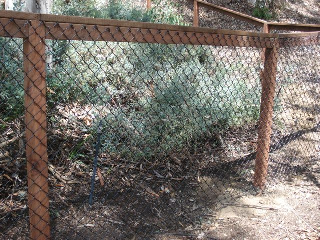Wood And Chain Link Fencing Referred To As California