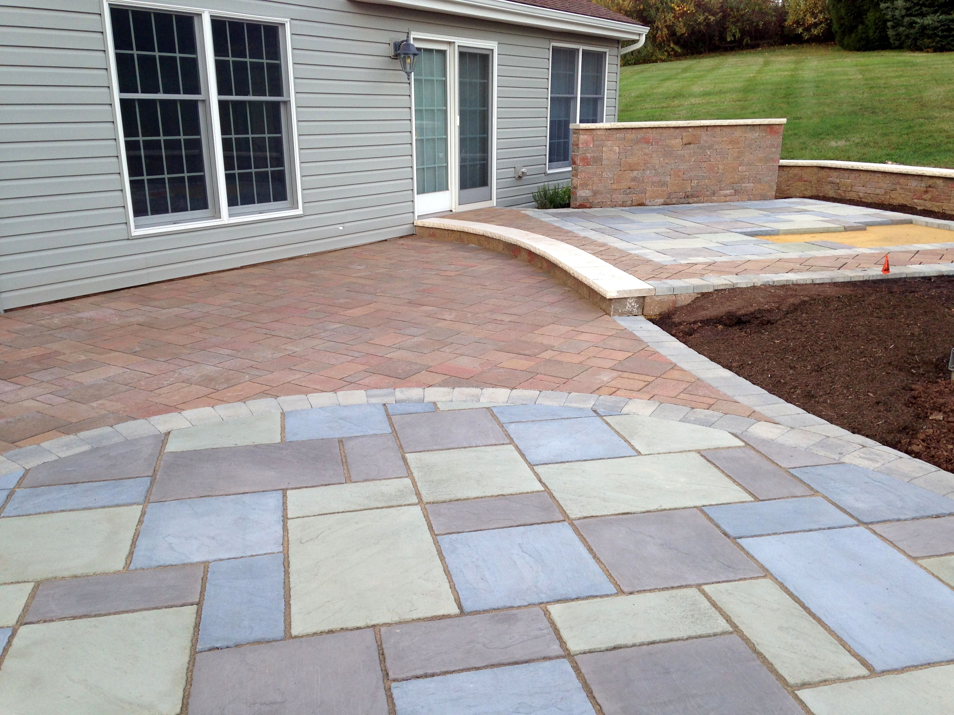 Work In Progress, Paver Patio By Premier Patios And Walks. Circular Paver