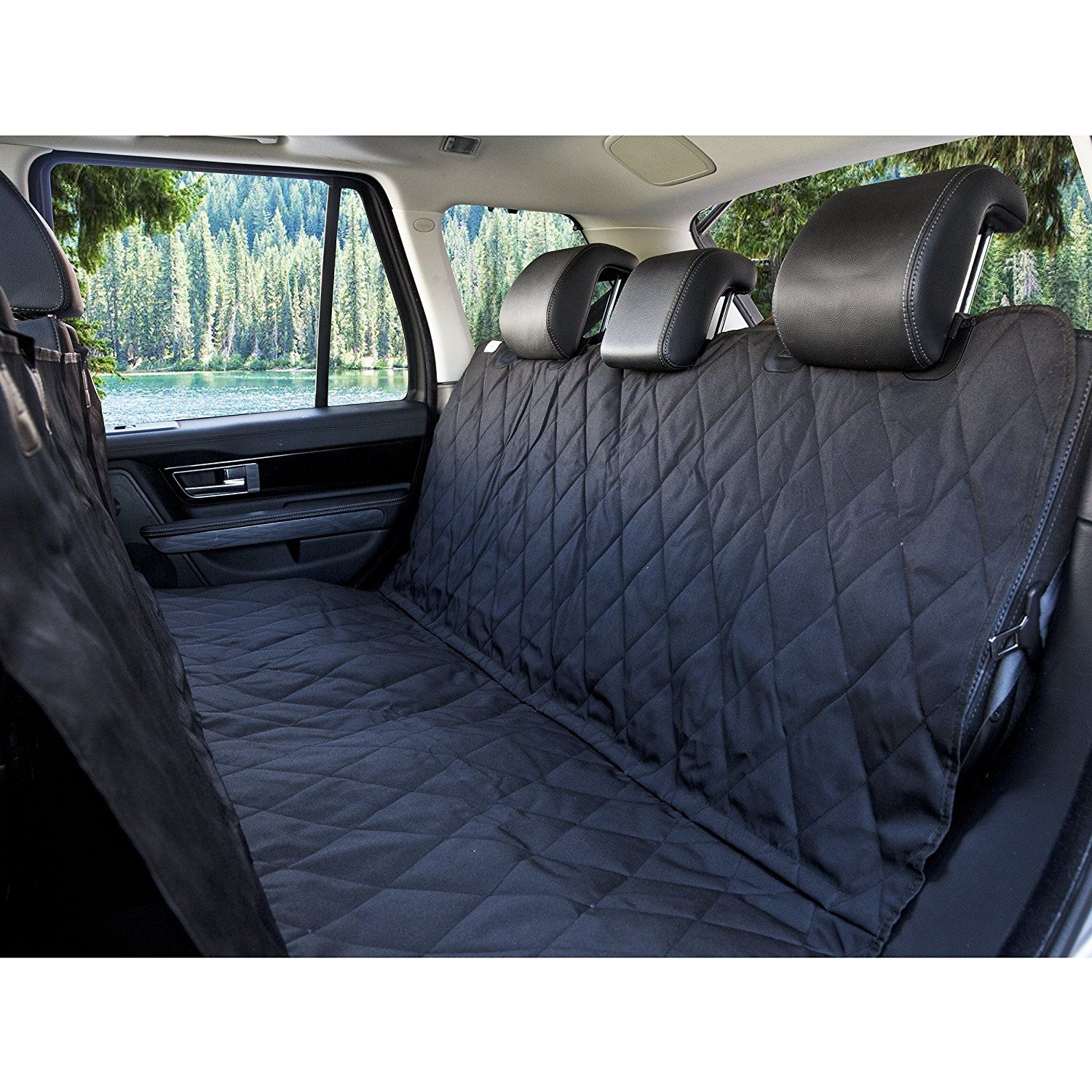 Amazon Com Barksbar Luxury Pet Car Seat Cover With Seat Anchors For Cars Trucks And Suv S Black Wate Pet Car Seat Covers Pet Car Seat Dog Car Seat Cover