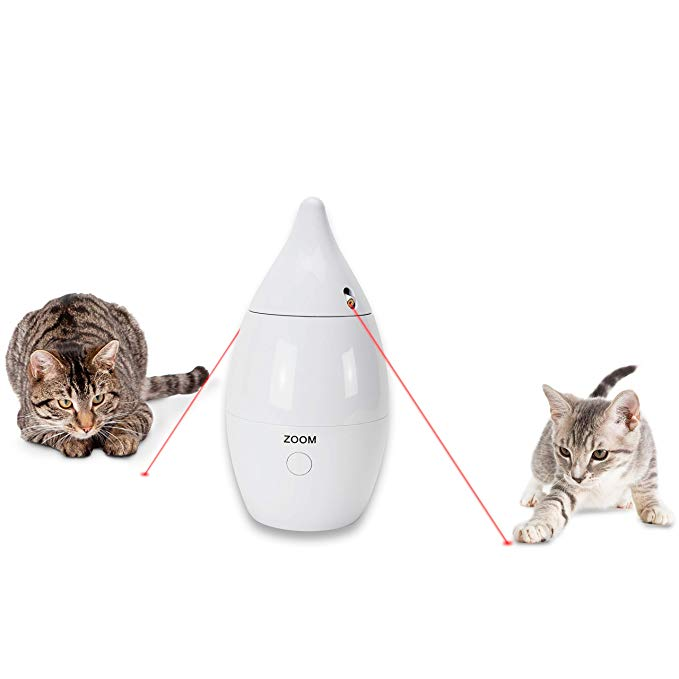 Amazon Com Petsafe Zoom Rotating Laser Cat Toy Automatic Laser Game For Cats Pet Supplies Cat Toys Pet Supplies Pets