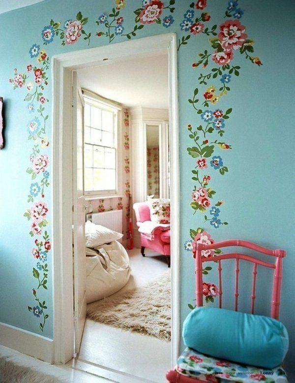 Wände Streichen Wohnideen Für Erstaunliche Wanddekoration Zimmertür