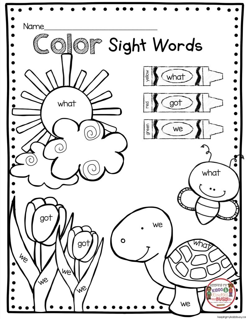 May In Kindergarten Freebies Keeping My Kiddo Busy Sight Words Kindergarten Kindergarten Freebies Sight Word Coloring