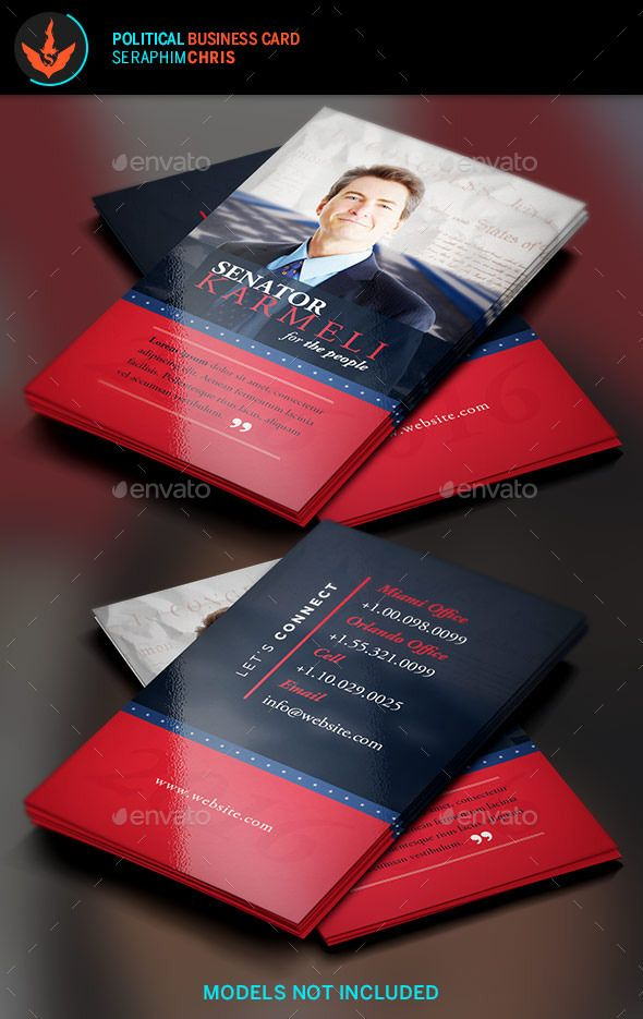 Political Election Business Card 2 Template Business cards - political brochure