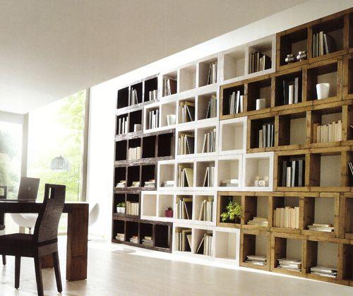 libreria a blocchi in bamboo bambù offerta outlet cinius | living ...
