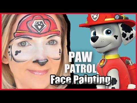 Paw Patrol Face Painting - YouTube | paw patrol party | Pinterest ...
