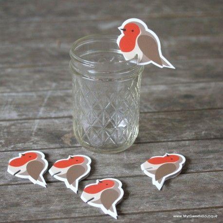Petits oiseaux marque verre - par 10