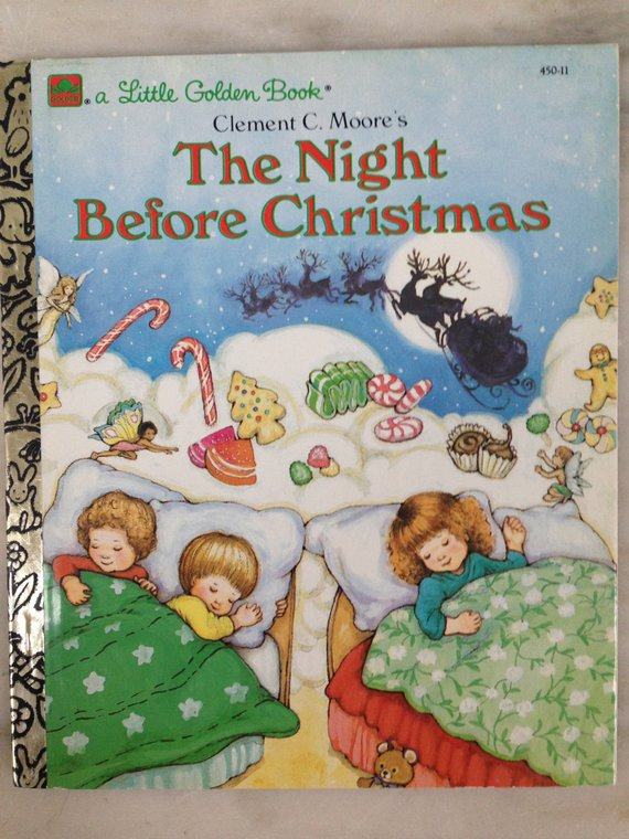 61363e8daaca vintage Little Golden Book The Night Before Christmas Clement C ...