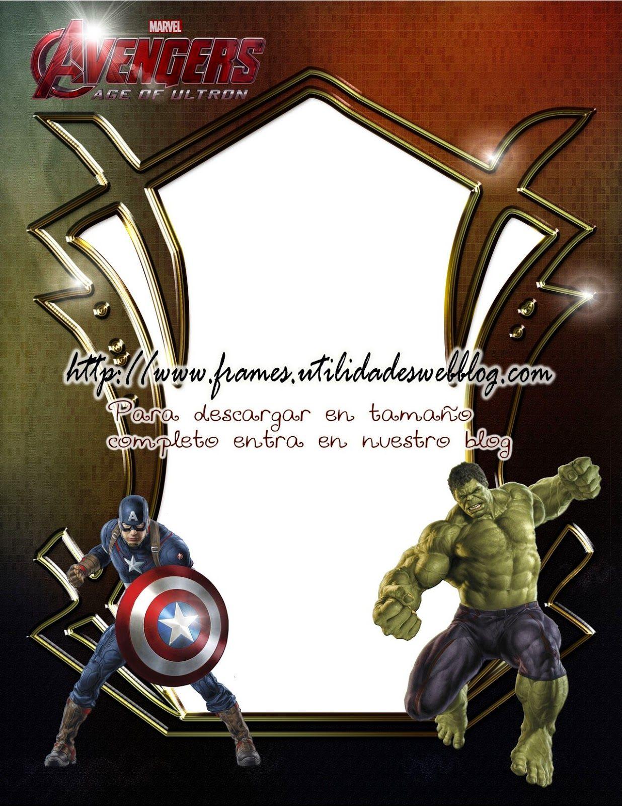 marco para fotos de los avengers | PhotoFrames | Pinterest | Fotos ...
