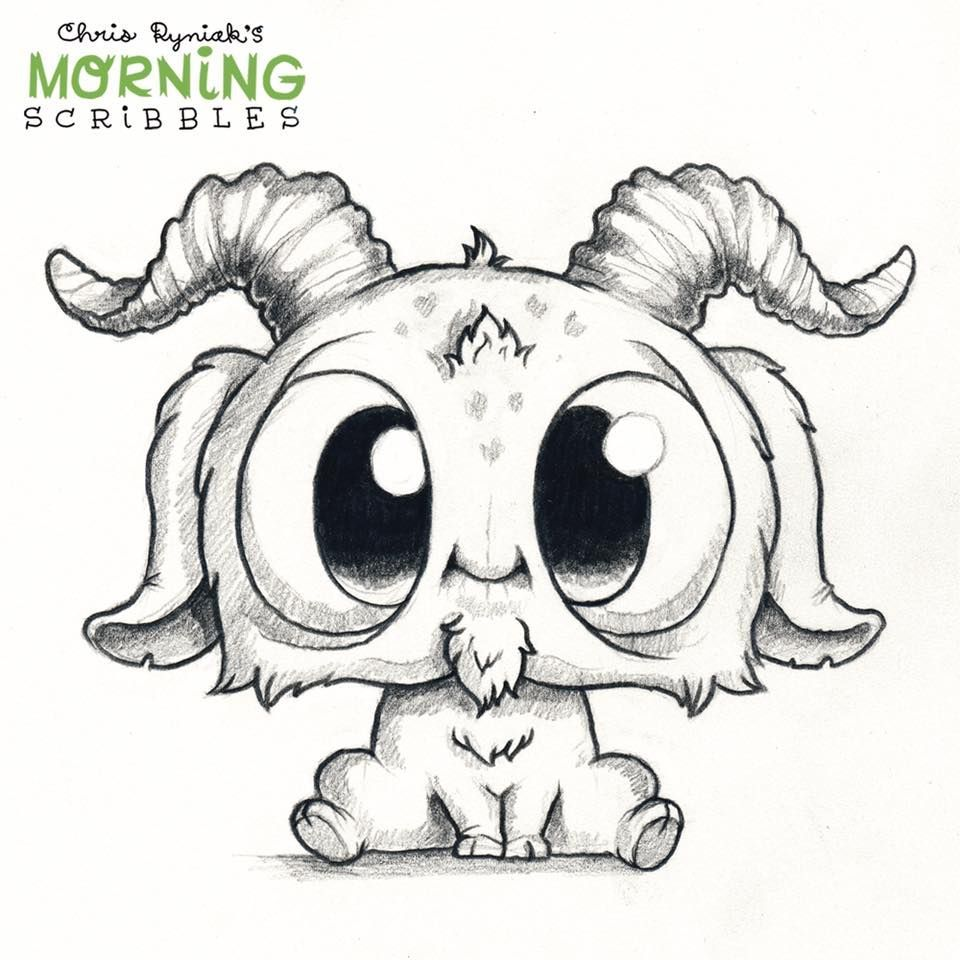 My Little Ram With Images Cute Monsters Drawings Cute Art