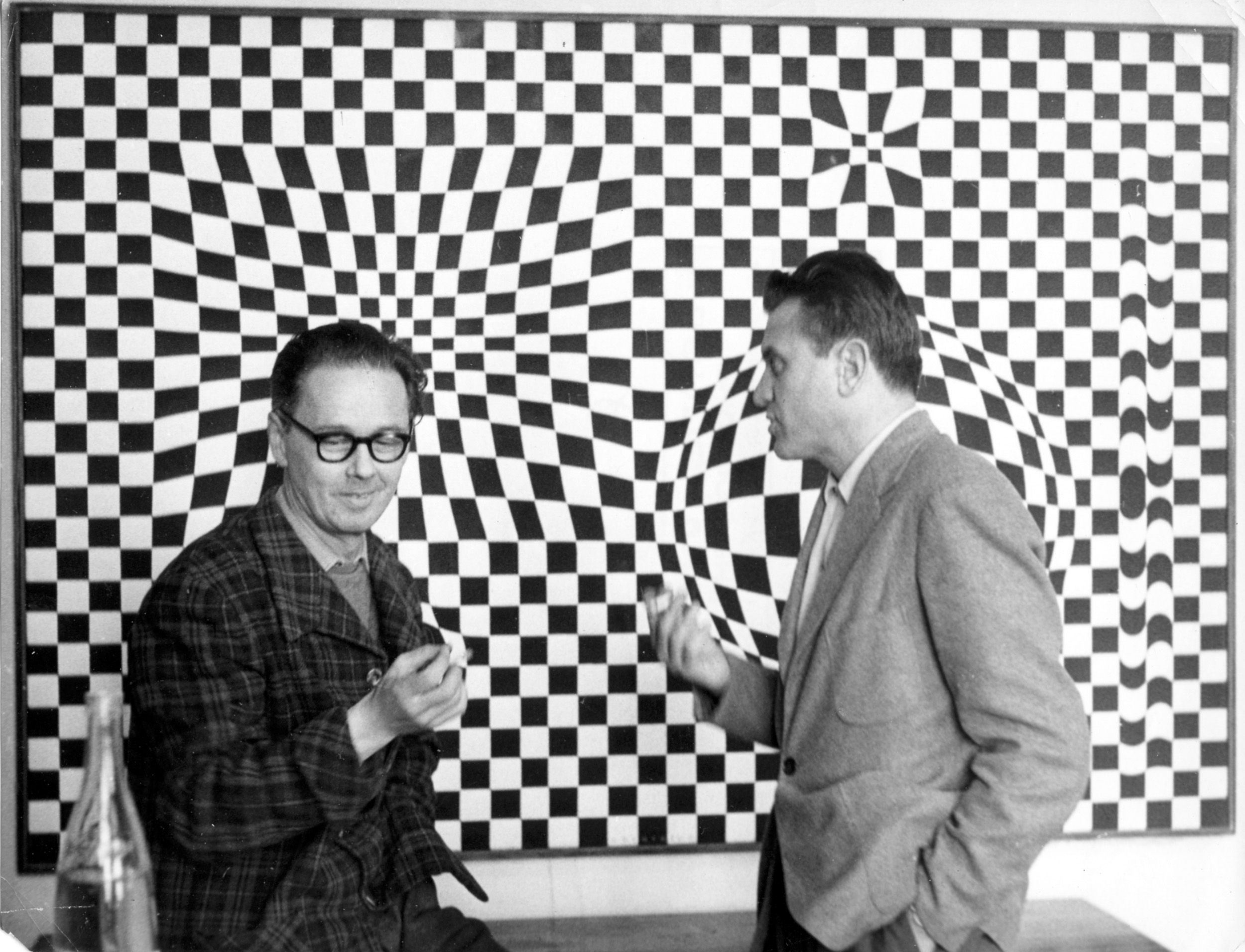 Victor Vasarely and Gyula Kosice, 1958