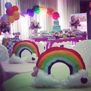 enfeite mesa arco-iris - Pesquisa Google