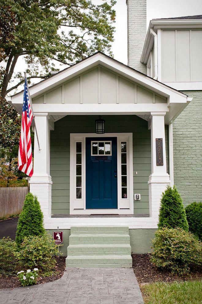 Navy Door Paint Color. Navy Front Door. Sherwin Williams SW6230 Rainstorm.  Sherwin Williams SW6230 Rainstorm #SherwinWilliams #SW6230 #Rainstorm ...