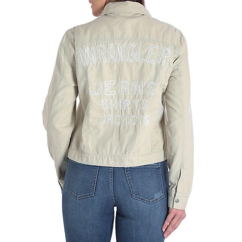 Wrangler Women's Vintage Inspired Canvas Jacket (Size: Medium) Khaki