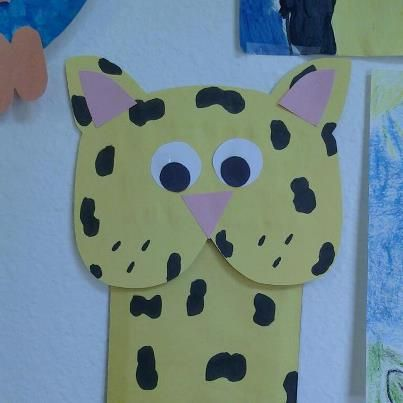 Cheetah Puppet Made Out Of Paper Bag Rainforesttheme Pinteresting