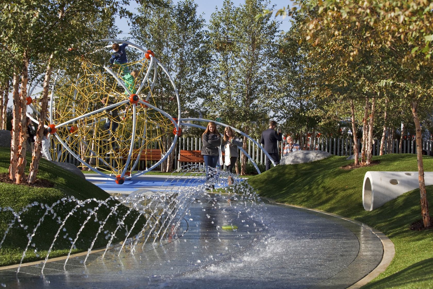 Ojb The Office Of James Burnett Water Playground Landscape Architecture Backyard Water Feature