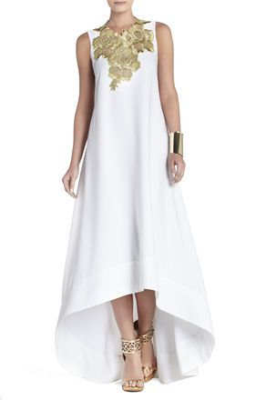 I Always Love Something Chic Easy And Flowing Bcbg Louisa High Low Sleeveless Dress Loveit Fashion Dresses Gold Evening Dresses Evening Dresses