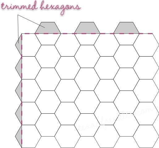 Number names worksheets printable hexagons free for Hexagon templates for quilting free