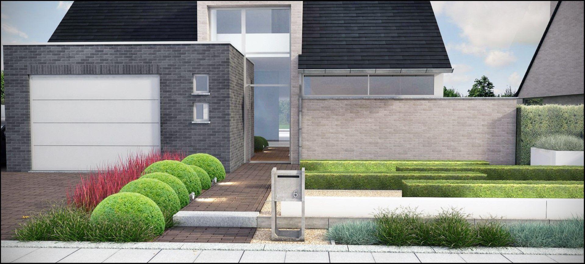 Eco tuinarchitectengroep 3d projecten moderne tuin for Voortuin modern